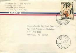 1975  Lettre Avion Pour Les USA  De Bozoum  Xylopia Vilosa - Central African Republic