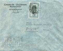 Lettre Avion Pour La Suisse  COB 291B  Masque 8 Fr - 1947-60: Covers