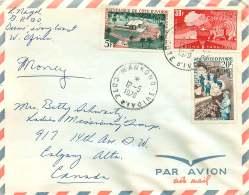 1970  Lettre Avion Pour Le Canada Ficellerie, Huilerie, ASECNA - Côte D'Ivoire (1960-...)
