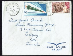 1969  Lettre Avion Pour Le Canada  Tisserand, Fusée Diamant , Nature Morte De Gauguin Au Dos - Upper Volta (1958-1984)
