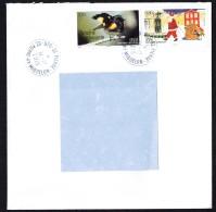 Lettre  Pour Le Canada    Paruline (oiseau), Père Noël - St.Pierre & Miquelon