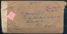 1943 , INDIA PORTUGUESA , CANSAULIM - BOMBAY , SOBRE CERTIFICADO , CENSURAS - Portuguese India
