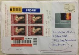 Registered Cover Austria To Honduras ( MISSENT To El Salvador) Mal Encaminado A El Salvador Postmark - 2011-... Briefe U. Dokumente