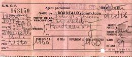 TICKET(BORDEAUX) - Titres De Transport