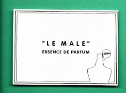 JEAN PAUL GAULTIER * LE MALE * ESSENCE DE PARFUM * - Cartes Parfumées