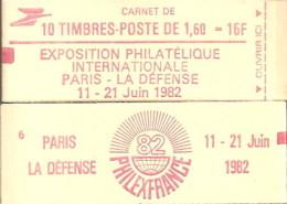 """CARNET 2187-C2c Liberté De Delacroix """"PHILEXFRANCE 82"""" Avec """"10 Sous Logo"""" Conf.6 Fermé Bas Prix Parfait état RARE - Carnets"""
