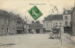 Ballon (Sarthe) - Place Du Marché - Animation: Femmes Sur Une Charrette - Edition Soulard - Other Municipalities