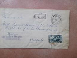 2.9.1955 Raccomandata USO SINGOLO L.65 Lavoro - 1946-60: Marcofilie