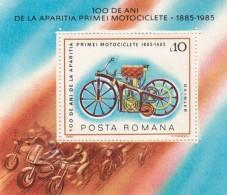 Romania 1985 - Yt BF/174**  Centenaire De La Motocyclette - Moto