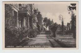 SVENDITA - ABBAZIA OPATIJA CROAZIA GIARDINO DAVANTI HOTEL MAJESTIC E QUARNERO FOTOGRAFICA  F/P VIAGGIATA 1935 (a) - Croacia