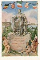[DC9562] CPA - LA VITTORIA D'ITALIA E DEI SUOI ALLEATI - TRENTO - TRIESTE - Non Viaggiata - Old Postcard - Militari