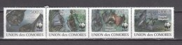 Comores 2009.4V In Strip,WWF,bats,vleermuizen,fledermäuse,chauves-souris,murciélagos,pipistrelli,MNH/Postfris(L2516) - Vleermuizen