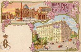 [DC9570] CPA - HOTEL REGINA - ROMA - SAN PIETRO - Non Viaggiata - Old Postcard - Alberghi & Ristoranti