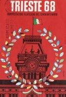 [DC9581] TRIESTE 68 - MANIFESTAZIONE FILATELICHE DEL CINQUANTENARIO - Viaggiata 1968 - Old Postcard - Bourses & Salons De Collections