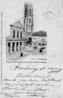 [DC9632] CPA - SVIZZERA - FRIBOURG - TOUR DE ST.NICOLAS ET FACADE DE NOTRE DAME - Viaggiata 1899 - Old Postcard - FR Fribourg
