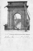 [DC9633] CPA - SVIZZERA - FRIBOURG - ENTREE DU GRAND PONT SUSPENDU - Viaggiata 1899 - Old Postcard - FR Fribourg
