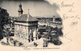 [DC9634] CPA - SVIZZERA - FRIBOURG - CHAPELLE DE NOTRE DAME DE LORETTE - Viaggiata 1899 - Old Postcard - FR Fribourg