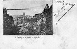 [DC9635] CPA - SVIZZERA - FRIBOURG ET LE PONT DE GOTTERON - Viaggiata 1899 - Old Postcard - FR Fribourg