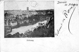 [DC9636] CPA - SVIZZERA - FRIBOURG - SOUVENIR DE FRIBOURG - Viaggiata 1899 - Old Postcard - FR Fribourg
