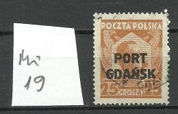 Port Gdansk Poland Danzig 1928 Michel 19 O - Danzig