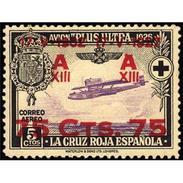 ES388STV-LFT***388STTOA.ANIVERSARIO.JURA   CONSTITUCION POR ALFONSO Xlll.Aereo. 1927 (Ed 388**) Sin Charnela MAGNIFICO - Otros (Aire)