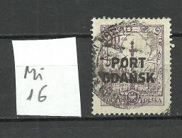 Port Gdansk Poland Danzig 1926/27 Michel 16 O - Dantzig