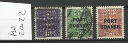Port Gdansk Poland Danzig 1929/30 Michel 20 - 22 O - Dantzig