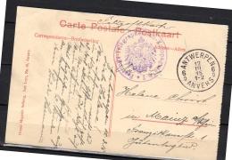 Antwerpen Anvers Festungs-Telegraphenbau-Kompagnie 1915  (b131) - WW I