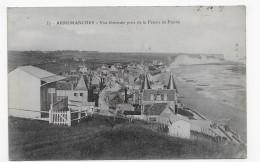 (RECTO / VERSO) ARROMANCHES EN 1915 - N° 57 - VUE GENERALE PRISE DE LA FALAISE DE FRESNE - BEAU CACHET - CPA - Arromanches