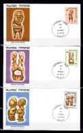 """3 Enveloppes 1er Jour De 1985 """" TIKIS EN POLYNESIE (II) """". N° YT 229 à 229. Parfait état. FDC - FDC"""