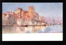 031396 GREECE CORFU Walls View Vintage Color PC - Greece
