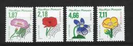"""Préo YT 240 à 243 """" Fleurs Sauvages """" 1998 Neuf **"""