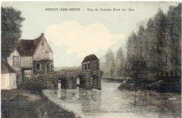 HERICY UR SEINE - Vue De L' Ancien Pont En 1800 (90613) - Other Municipalities