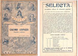 Opuscolo: GIACOMO LEOPARDI Biografia Aneddotica - Bibliotechina Per La Gioventù - Bibliographien