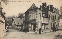 ST GEORGES DU VIEVRE Rue De St Pierre Et Rue De L' Eglise - Francia