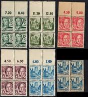 Würtemberg N° 4 + 5 + 6 + 7 + 9 + 11  Blocs De 4 ** MNH Allemagne Zone Française - Französische Zone