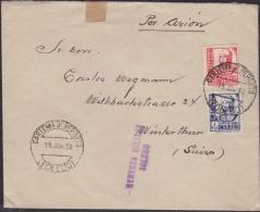 España 1938. Carta De Toledo A Winterthur. Censura. - Marcas De Censura Nacional