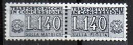 PIA - Specializzazione  :1960 :  PACCHI CONCESSIONE : £ 140 - (SAS 15 - CAR 17) - Varietà E Curiosità