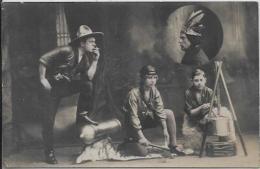 CPA Cirque Circus Cirk Acrobates Indiens Cow Boy Non Circulé Arme Otago Bill - Zirkus
