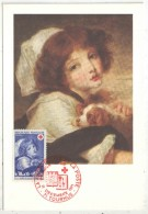 CM - Carte Maximum Card - 1971 - YT 1700 - Croix-Rouge - Greuze - Cartes-Maximum