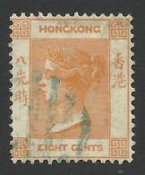 Hong Kong, 8 C. 1865, Sc # 13, Mi # 11, Used. - Hong Kong (...-1997)