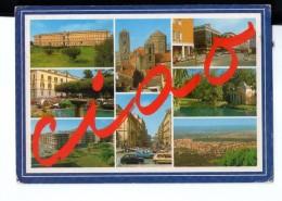 Q3452 Cartolina Della Campania - CASERTA, VEDUTINE DEL CENTRO + Auto Cars Voitures. FIAT  _ VIAG. CON DOPPIO ANNULLO - Caserta