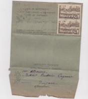 Avis De Reception Cayenne 1948 Affranchie Avec Yvert 206 Pour Sinnamary