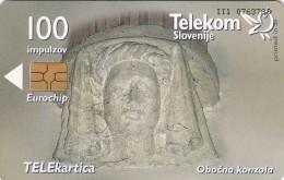 SLOVENIA SLOVENIJA  PHONECARD 2000 OBOČNA KONZOLA LJUTOMER JANEZ KRSTNIK CHURCHES TELEKOM CAT.NO. 310 - Slovenia