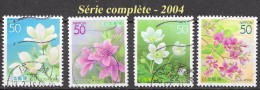 Japon  - Flore - Y&T N° 3525 / 3528 - Oblitérés - Lot 445 - 1989-... Imperatore Akihito (Periodo Heisei)