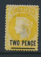 ST HELENA, 1864 2d Wmk Crown CC, P14x12½ Unused No Gum, Thin, SG22, Cat £140 - Sint-Helena
