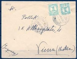 1935 , CÓRDOBA , SOBRE CIRCULADO ENTRE BELALCAZAR Y VIENA , IMPRESOS , ED. 677 X 2 - 1931-Hoy: 2ª República - ... Juan Carlos I