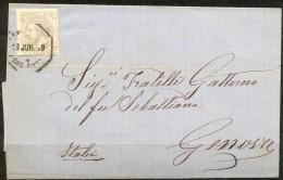 1879 , ENVUELTA CIRCULADA ENTRE BARCELONA Y GÉNOVA , ED. 204 , AMBULANTE BAR - PORT , LLEGADA - 1875-1882 Royaume: Alphonse XII