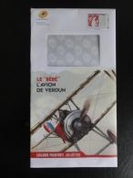 PAP Monde 250g - Avion De Verdun - Philaposte Juin/aout 2016 - Thème : Aviation, Guerre 1914/18 - Entiers Postaux