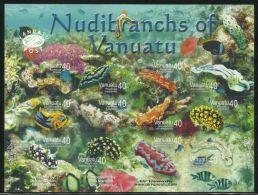 VANUATU  2008  NUDIBRANCHS SELF-ADHESIVE SHEET  MNH - Vie Marine